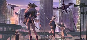 Rating: Safe Score: 39 Tags: aircraft animal_ears arknights brown_hair building catgirl city dark_skin ethan_(arknights) group male ponytail short_hair shorts siege_(arknights) sunset tagme_(character) tail white_hair yetecong User: BattlequeenYume