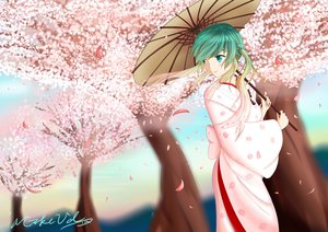 Rating: Questionable Score: 35 Tags: aqua_eyes aqua_hair cherry_blossoms hatsune_miku japanese_clothes kimono mikevd sakura_miku twintails umbrella vocaloid User: gnarf1975