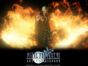 Rating: Safe Score: 9 Tags: final_fantasy final_fantasy_vii final_fantasy_vii_advent_children fire sephiroth User: Oyashiro-sama