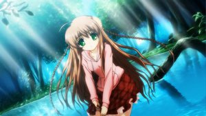 Rating: Safe Score: 41 Tags: brown_hair dress flowers forest green_eyes kanbe_kotori key long_hair rewrite water wet User: jofori89
