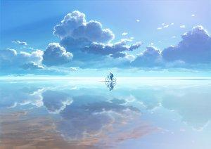 Rating: Safe Score: 139 Tags: all_male bicycle clouds male original saitama_(nrh49840) scenic sky waifu2x water User: mattiasc02