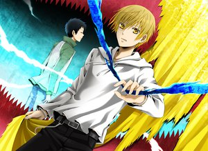 Rating: Safe Score: 12 Tags: durarara!! kida_masaomi ryuugamine_mikado wool User: HawthorneKitty