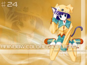 Rating: Safe Score: 4 Tags: animal_ears catgirl nanao_naru rainbow_colored_icecream User: Oyashiro-sama