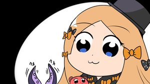 Rating: Safe Score: 11 Tags: abigail_williams_(fate/grand_order) blonde_hair blue_eyes bow cat_smile close fate/grand_order fate_(series) hat long_hair nantosei parody pop_team_epic teddy_bear tentacles User: otaku_emmy