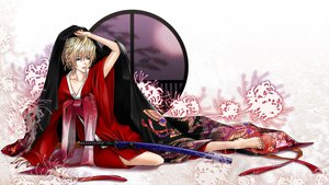 Rating: Safe Score: 25 Tags: blonde_hair butterfly flowers green_eyes japanese_clothes kagamine_len katana kimono male shirano sword vocaloid weapon User: Konazakura