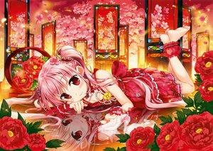 Rating: Safe Score: 59 Tags: barefoot blush dress fujima_takuya original pink_hair red_hair reflection scan User: mattiasc02