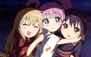 Rating: Safe Score: 47 Tags: funami_yui japanese_clothes toshinou_kyouko yoshikawa_chinatsu yuru_yuri User: meccrain