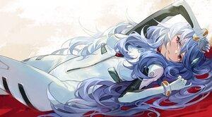 Rating: Safe Score: 55 Tags: ayanami_rei blue_hair bodysuit goomrrat long_hair neon_genesis_evangelion red_eyes waifu2x User: BattlequeenYume