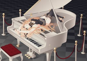 Rating: Safe Score: 164 Tags: blonde_hair green_eyes instrument long_hair naryu_(lelielrain) panties piano seeu stockings underwear vocaloid User: FormX