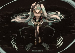Rating: Safe Score: 36 Tags: hatsune_miku miku_append twintails vocaloid User: mikulover
