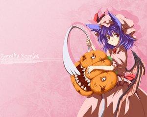 Rating: Safe Score: 16 Tags: animal_ears pink pumpkin remilia_scarlet touhou vampire User: Zero