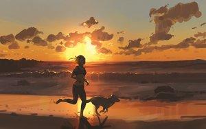 Rating: Safe Score: 82 Tags: animal clouds dog original sky snatti sunset User: Flandre93