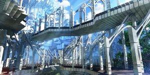 Rating: Safe Score: 37 Tags: 3d building clouds original scenic sky stairs waisshu_(sougyokyuu) User: RyuZU