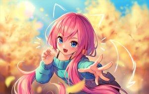 Rating: Safe Score: 56 Tags: aqua_eyes blush cat_smile fang hyanna-natsu long_hair original pink_hair twintails watermark User: RyuZU