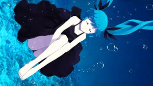 Rating: Questionable Score: 51 Tags: barefoot blue_hair bubbles deep-sea_girl_(vocaloid) dress hatsune_miku underwater vocaloid User: ju_chan