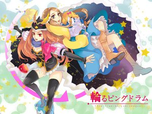 Rating: Safe Score: 72 Tags: apple boots brown_hair food fruit mawaru_penguindrum sesgusi takakura_himari User: FormX