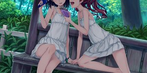 Rating: Safe Score: 122 Tags: 2girls 54crystle brown_hair dress food forest misaka_mikoto shirai_kuroko short_hair shoujo_ai to_aru_kagaku_no_railgun to_aru_majutsu_no_index tree wristwear User: RyuZU