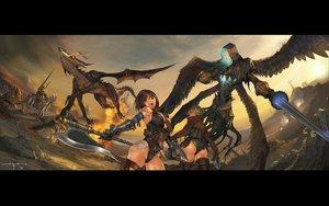 Rating: Questionable Score: 131 Tags: dragon fantasy_earth_zero sword weapon User: Kunimura