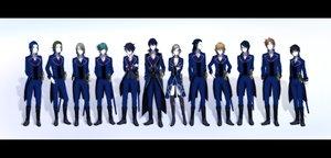Rating: Safe Score: 20 Tags: akiyama_himori awashima_seri benzai_yuujirou black_hair blonde_hair blue_hair brown_hair domyoji_andy enomoto_tatsuya fuse_daiki fushimi_saruhiko ghost_in_the_shell:_stand_alone_complex glasses gouwan green_hair group hidaka_akira kamo_ryuho k_(anime) male munakata_reishi parody ren_gotou short_hair uniform User: RyuZU