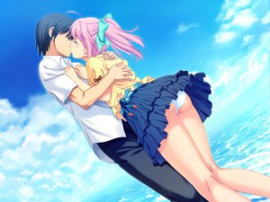 Rating: Safe Score: 103 Tags: game_cg hinata_hanabi jpeg_artifacts kiss koutaro panties skirt skirt_lift tropical_kiss underwear upskirt User: gnarf1975