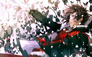 Rating: Safe Score: 122 Tags: all_male amnesia brown_hair butterfly male red_eyes shin_(amnesia) User: BoobMaster