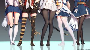 Rating: Safe Score: 225 Tags: animal_ears anthropomorphism ayanami_(azur_lane) azur_lane cleveland_(azur_lane) foxgirl gloves hood_(azur_lane) kaga_(azur_lane) kneehighs multiple_tails no_bra panties pantyhose reflection shorts skirt sword tail takao_(azur_lane) thighhighs tokinohimitsu underboob underwear uniform watermark weapon zettai_ryouiki User: RyuZU