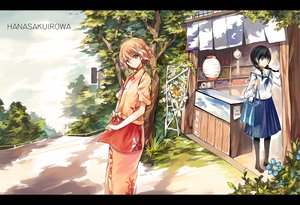 Rating: Safe Score: 49 Tags: flowers hanasaku_iroha japanese_clothes matsumae_ohana oshimizu_nako qianshuhao seifuku tree User: opai