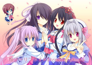 Rating: Safe Score: 52 Tags: blue_eyes crossover group onomatope* petals pink_eyes purple_eyes purple_hair red_eyes saejima_momo sakura_no_reply seifuku strawberry_nauts tagme_(character) yatsuka_itsuki User: opai