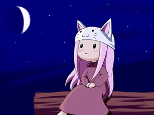 Rating: Safe Score: 38 Tags: blush cat_smile dress hat long_hair megurine_luka moon night pink_hair sky stars toeto vocaloid User: Katsumi