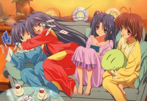 Rating: Safe Score: 34 Tags: clannad dango_(clannad) drink fujibayashi_kyou fujibayashi_ryou furukawa_nagisa group hug ichinose_kotomi pajamas twins User: Oyashiro-sama
