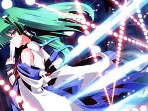 Rating: Safe Score: 35 Tags: green_hair japanese_clothes kochiya_sanae miko touhou User: majinjynxi