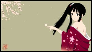 Rating: Safe Score: 133 Tags: akiyama_mio black_hair cherry_blossoms japanese_clothes k-on! long_hair petals yukata User: meccrain