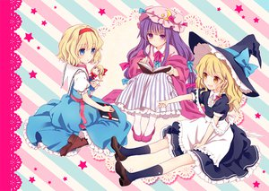 Rating: Safe Score: 55 Tags: alice_margatroid doll dress hat kirisame_marisa patchouli_knowledge stars torii_sumi touhou User: opai