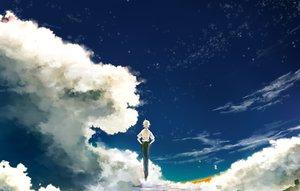 Rating: Safe Score: 60 Tags: all_male clouds male nagisa_kaworu neon_genesis_evangelion nosaki_tsubasa short_hair sky stars white_hair User: FormX