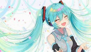 Rating: Safe Score: 12 Tags: close hatsune_miku long_hair tagme_(artist) twintails vocaloid User: sadodere-chan