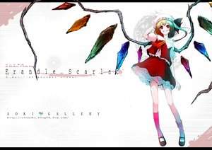 Rating: Safe Score: 27 Tags: aoki_shin dress flandre_scarlet red_eyes touhou white wings User: HawthorneKitty