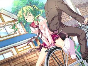 Rating: Safe Score: 104 Tags: bicycle feng game_cg green_hair hoshizora_e_kakaru_hashi ryohka school_uniform tie toudou_koyori twintails User: Wiresetc