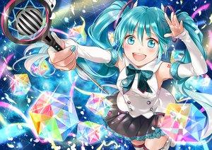 Rating: Safe Score: 21 Tags: hatsune_miku long_hair magical_mirai_(vocaloid) sakikko twintails vocaloid User: sadodere-chan