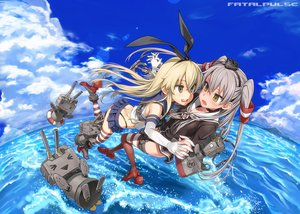Rating: Safe Score: 114 Tags: 2girls amatsukaze_(kancolle) anthropomorphism asanagi clouds kantai_collection rensouhou-chan rensouhou-kun shimakaze_(kancolle) sky water User: Freenight
