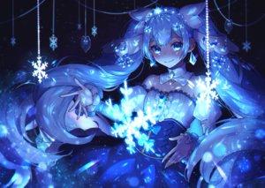 Rating: Safe Score: 46 Tags: aqua_eyes aqua_hair blue dress hatsune_miku long_hair peta_(snc7) polychromatic twintails vocaloid yuki_miku User: RyuZU