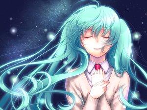 Rating: Safe Score: 3 Tags: hatsune_miku kayu long_hair twintails waifu2x User: luckyluna