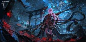 Rating: Safe Score: 36 Tags: armor katana original pixiv_fantasia samurai stu_dts sword torii weapon User: FormX
