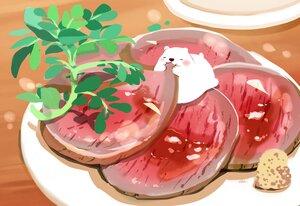 Rating: Safe Score: 28 Tags: animal bear chai_(artist) chibi food leaves nobody original signed User: otaku_emmy
