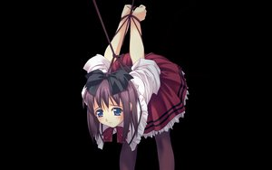 Rating: Questionable Score: 105 Tags: black blue_eyes bondage murakami_suigun pantyhose ribbons User: Oyashiro-sama