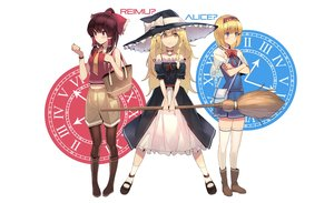 Rating: Safe Score: 59 Tags: alice_margatroid blonde_hair blue_eyes boots bow brown_eyes brown_hair choker dress hakurei_reimu hat headband jandy kirisame_marisa long_hair navel pantyhose short_hair shorts skirt socks thighhighs tie touhou witch witch_hat wristwear yellow_eyes User: RyuZU