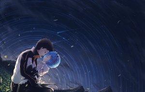 Rating: Safe Score: 110 Tags: black_eyes black_hair blue_hair hug maid male natsuki_subaru petals rem_(re:zero) re:zero_kara_hajimeru_isekai_seikatsu ribbons tagme_(artist) tears User: RyuZU
