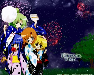 Rating: Safe Score: 15 Tags: festival fireworks furude_rika higurashi_no_naku_koro_ni houjou_satoko mask ryuuguu_rena sonozaki_mion User: Oyashiro-sama