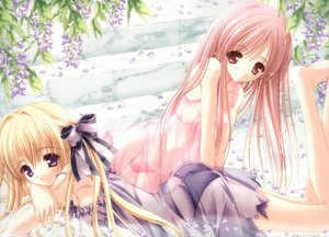Rating: Questionable Score: 160 Tags: blonde_hair bow cafe_little_wish flowers karen_(cafe_little_wish) merun_(cafe_little_wish) nipples panties pink_hair purple_eyes red_eyes see_through tinkle underwear User: Oyashiro-sama
