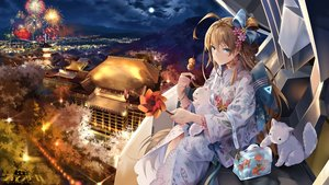 Rating: Safe Score: 120 Tags: animal brown_hair building cat city clouds fireworks fish flowers food green_eyes iron_saga japanese_clothes kimono logo long_hair moon night sky snow_(iron_saga) snow_is tree User: BattlequeenYume