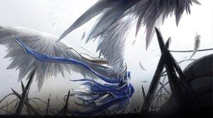 Rating: Safe Score: 164 Tags: aa_megami-sama belldandy dress feathers kzcjimmy wings User: opai